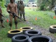 Nude ebony military videos gay first time Jungle drill