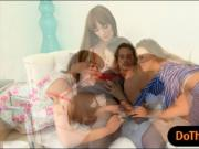 Alexis Adams and Bianca Breeze nasty threesome on the c