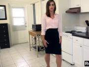 A very sexy real estate agent keeps her job with her sw