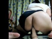 Romanian lady Sorina tries large dildo