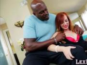 Lustful looking redhead Dani gets fucked by Lexington S