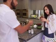 Petite Asian Mila Jade loves black cock inside her puss