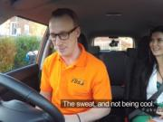 Driving school test end with fuck in public