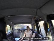 Skinny naked blonde banged in fake taxi