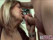 Hot chubby granny loves young dick very much so she got