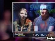 Swinger amateur couples have fun in reality show