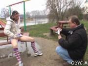 Curvy teen pleasures grandpa