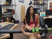 Brunette Alexis Deen trades big ass to Shawn for cash