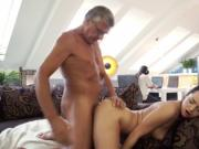 Teen cums all over cock and babe glasses big tits What