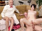 Hot blonde fucks old guy and man Frannkie goes down th