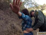 Police uniform threesome xxx Mexican border patrol agen