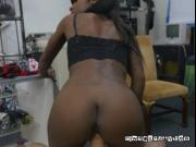 Ebony Chick Lexxi Deep Gets Her Pussy Smashed