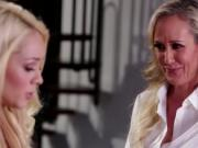 Blonde Brandi Love and gorgeous Elsa Jean insane lesbi