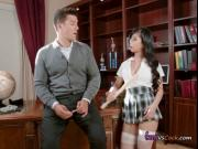 Asian Schoolgirl Jade Kush Blows Hung Professor