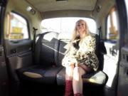 Finnish blonde fucks in British fake cab