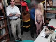 Adorable police and girl strip searched by male cop fir