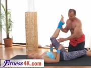 Experienced Fitness Trainer Seduces And Fucks Young Bea