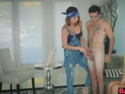 Mom Silvia blow her naked male model