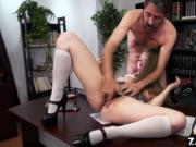 Lena Paul ride Dean Steve Holmes cock on top
