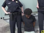 Slutty cop Joslyn takes black schlong outdoors