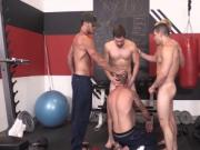 Shawn Reeve gets railed hard in this muscle hunks gangb