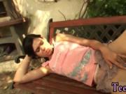 Russian hardcore Miho gets romped in the backyard