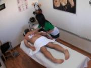 Unexpected sex in massage room