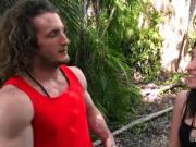 Hot ass babe fucks in woods