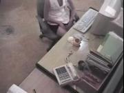 Office girl masturbating caught by spy cam