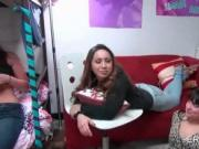 College girls stripping for dorm room gangbang