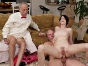 lady young guy and girls with tits fucks old man first