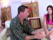 Allison Rey fucked cowgirl style by stepdad with big co