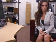 Curly haired Victoria Banxxx trades bigtits for cash