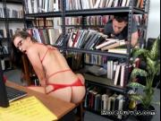 Curvy Librarian Kelsi Monroe Blows Hung Peeping Tom