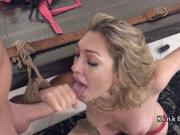Blonde beauty slave perfect ass banged