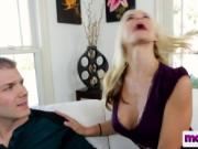 MILF makes that huge cock disappear