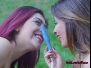Sex Sirens Pleasure Each Others Pussy Outdoors