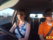 Alluring blonde riding dick for her drivers license