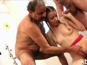 Teen and old man are fucking
