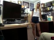 Married amateur blonde woman retrieves her ring and rid