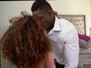 Teen couple fuck hard on bed Squirting ebony crony's te