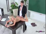 Teen Blondie Karolina Gets Dicked Down By Tutor