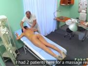 Doctor massages his nurse