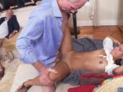 Victoria Valencia threesome fucking with grandpas