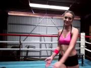 Naughty Gia Gets Her Pussy Pounded In A Boxing Ring