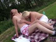 Real passionate lesbian Hot lesbos going on a picnic