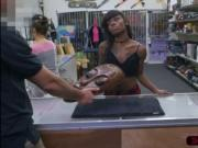 Ebony and slutty Lexxi Deep sells her mask and rides Sh
