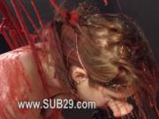 BDSM hardcore action with ropes and sleek sex