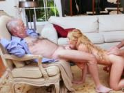 Old man young girl outdoor and daddy eats pussy Frannki
