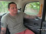 Tattooed huge tits cab driver fucks in public